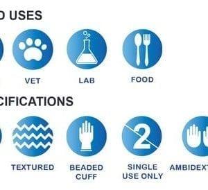 StarMed® Ultra Nitrile Blue Powder-Free Textured Exam Gloves