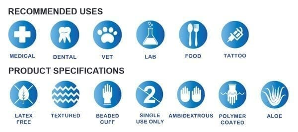 StarMed® ROSE Nitrile Powder-Free Exam Gloves with Aloe & Vitamin E