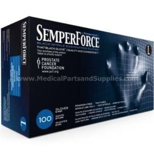 SemperForce®Black Nitrile Powder-Free Textured Exam and Industrial Gloves