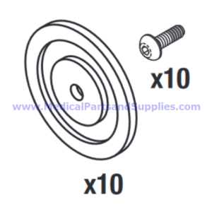 Air Valve Diaphragm Kit, Part MTK019 (OEM Parts 78401-261 and 78398-538)