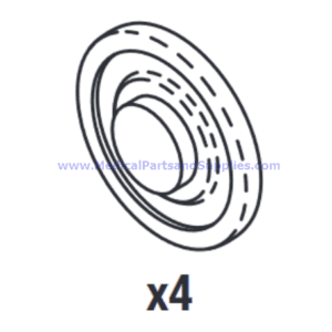 Alcohol and Detergent Valve Seal, Part MTS022 (OEM Part MV01-0035)