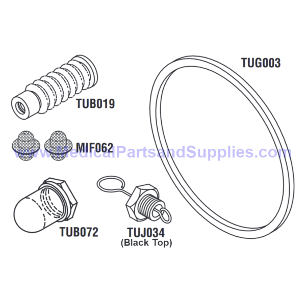 PM Kit with Door Gasket for the Tuttnauer® 2540M, Part TUK128 (OEM Part 02610023)