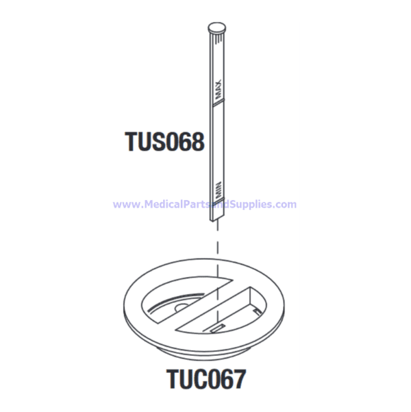 Reservoir Cover with Dipstick, Part TUK075