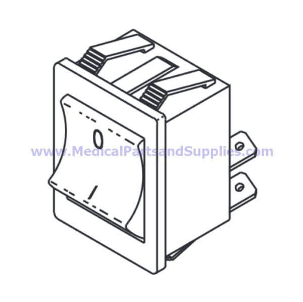 Power Rocker Switch, Part TUS009 (OEM Part 01910172)