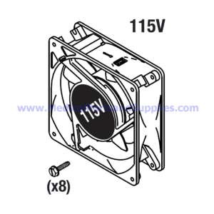Cooling Fan (115VAC), Part CMF019 (OEM Part 41060)