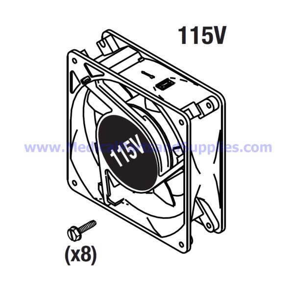 Cooling Fan (115VAC), Part CMF019 (OEM Part 41060)