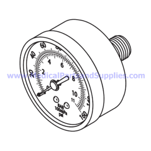 Pressure Gauge (160 PSI), Part CMG048 (OEM Part 60011)