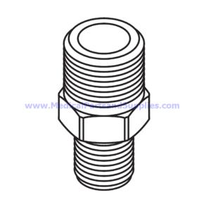 Adaptor (1/4 MPT x 3/8 MPT), Part RPF828