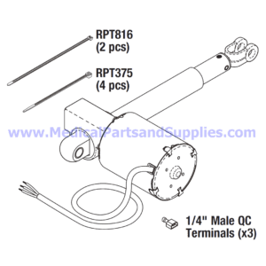 Back or Foot Actuator, Part MIA164 (OEM Parts 002-0215-00 and 002-0590-00)