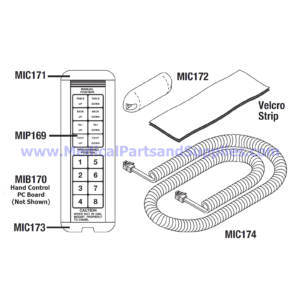 Hand Control for the Midmark-Ritter® 411 (75L), Part MIC168 (OEM Parts 9A73001 and 053-0412-00)