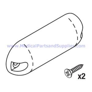Top Hand Control End Cap (Velcro), Part MIC172 (OEM Part 053-0257-00)