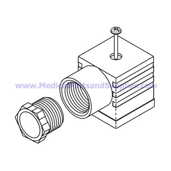 Wire Connector with Gasket, Part TUC084 (OEM Parts 01810909 and 01810910)