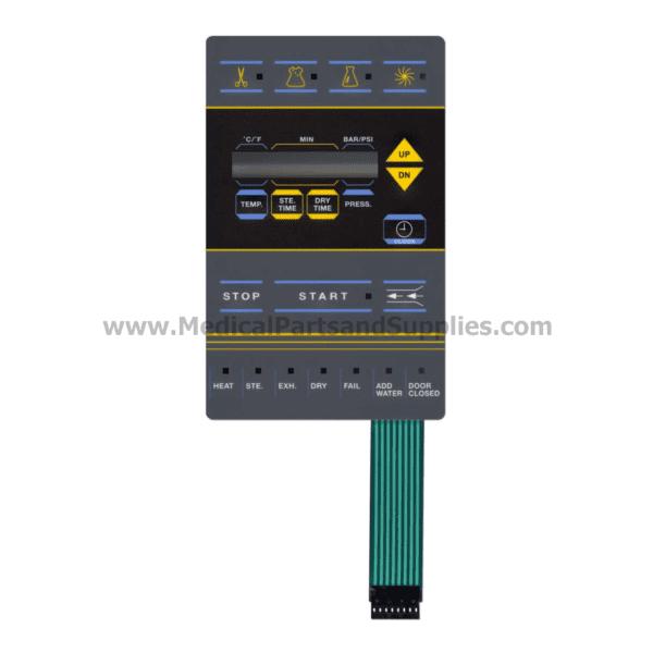 Gray Keypad for Tuttnauer® Automatic Autoclaves, Part TUK151 (OEM Part 03700027)