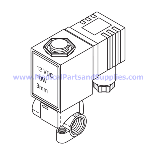 Solenoid Valve (3mm), Part TUV081 (OEM Part 01810101)