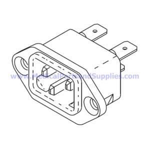 AC Inlet Receptacle, Part RPR583 (OEM Part 02819993)