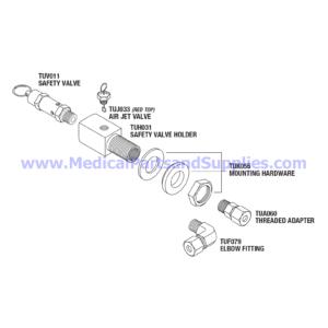 Safety Valve Holder Kit (37 PSI), Part TUK053