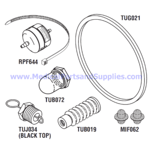 PM Kit with Door Gasket for the Tuttnauer® EZ9 and 2340E, Part TUK125 (OEM Part 02610023)