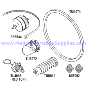 PM Kit with Door Gasket for the Tuttnauer® 3850EA and 3870EA, Part TUK132 (OEM Part 02610019)