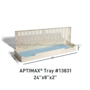 "APTIMAX® 24"" x 8"" x 2"" Instrument Trays (2 per Case), Item 13831"