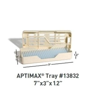 "APTIMAX® 7"" x 3"" x 1.2"" Instrument Trays (2 per Case), Item 13832"