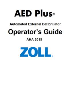 AED Plus® Operator's Guide