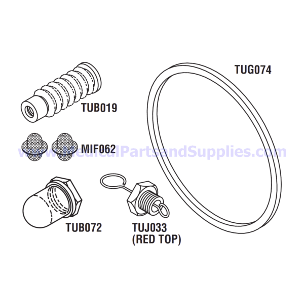 PM Kit with Door Gasket, Part TUK131 (OEM Part 02610019)