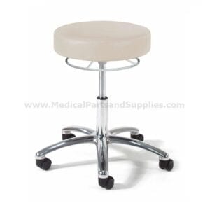 Hausted® 9903 Series Physician's Exam Stool w/ Chrome 360° Hand Release and Polished Aluminum Base