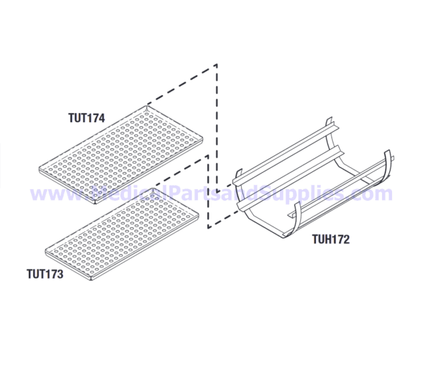 Tray Rack/Holder Kit with Trays for the Tuttnauer® 3870 Series, Part TUK171