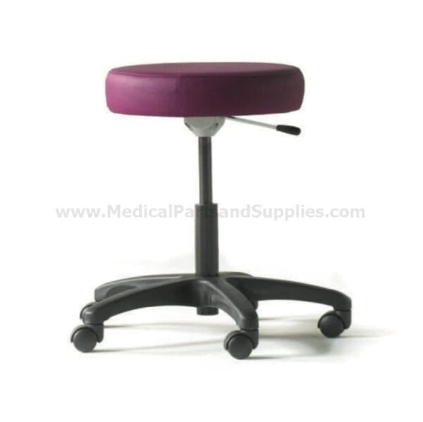 Hausted® Physician's Exam Stool w/ Single Lever Release and Composite Black Base, 9501 Series Plum