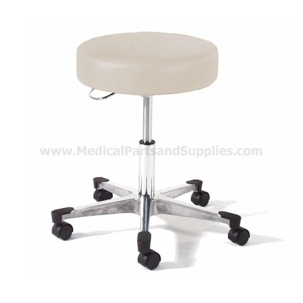 Hausted® 9702 Series Physician's Exam Stool w/ D-Handle Release and Brushed Aluminum Base