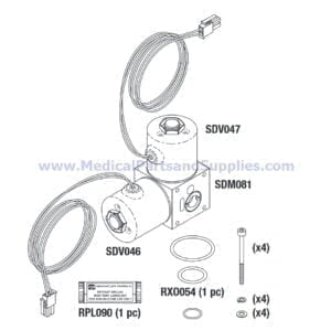 Valve Manifold Assembly for the Sterrad® NX, Part SDA048