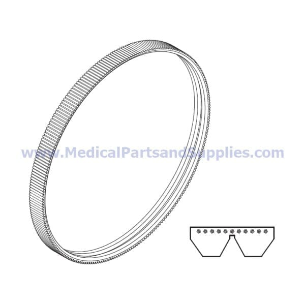 Drive Belt for the DentalEZ® RAMVAC Bulldog QT1, Part VPB100 (OEM Part 002035SP and Industry Part 2/7M580JB)