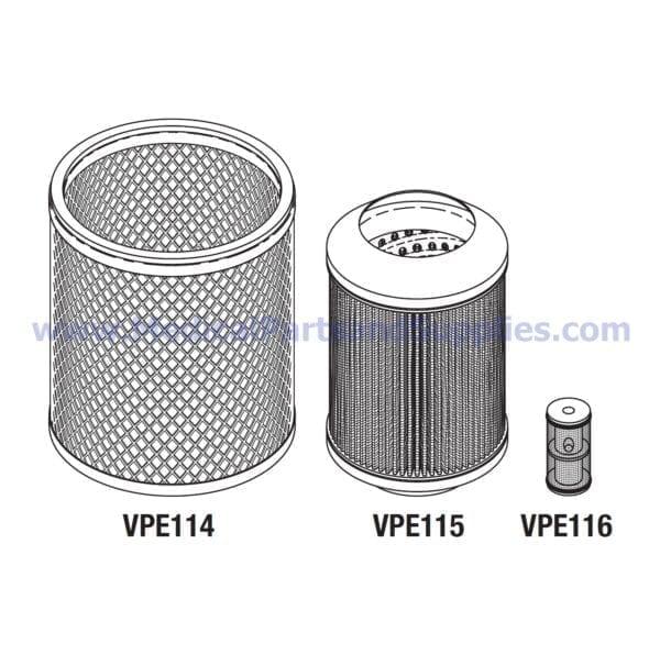 Filter Kit, Part VPK113 (OEM Part 003740)
