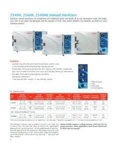 2340M, 2540M, and 2540MK Manual Sterilizers