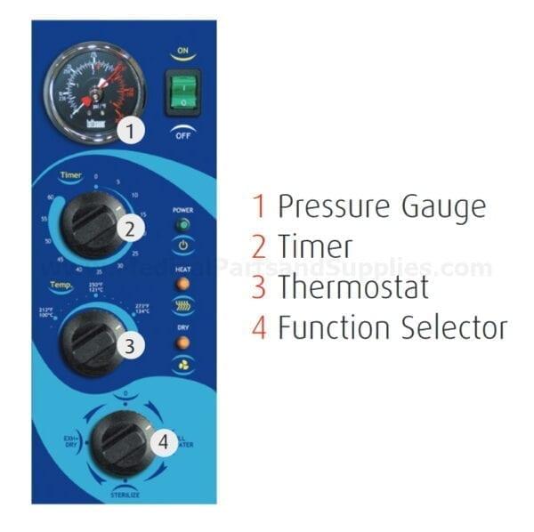 Tuttnauer Manual Autoclave Control Panel