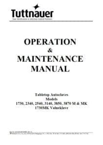 Tuttnauer_M_MK_Manual